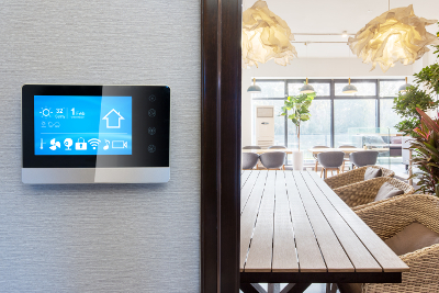 Remote control wall mounted panel for air conditioning