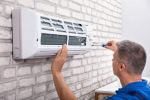 Air conditioning engineer services a HVRF internal unit